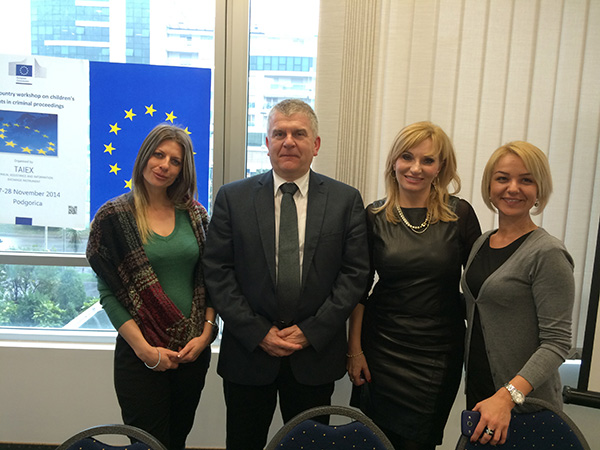 At the Multi-beneficiary workshop on the rights of children in criminal proceedings in Podgorica