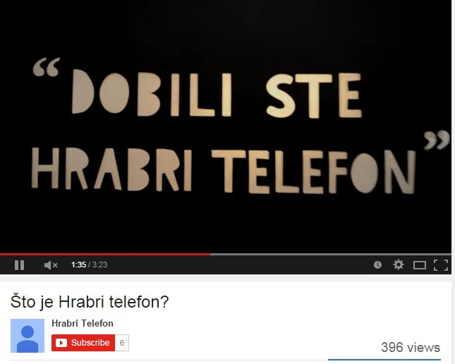 "Novi edukativni video film ""Hrabrog telefona"""