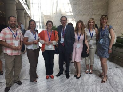 At the 16th International Congress of the European Society for Child and Adolescent Psychiatry in Madrid