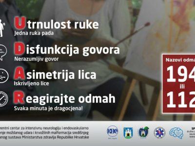 "Javnozdravstvena akcija ""Prepoznaj moždani udar"" na Cvjetnom trgu 17. rujna"