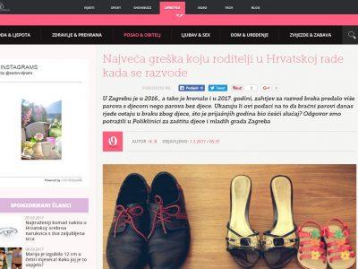 """ZADOVOLJNA.HR: """"Najveća greška koju roditelji u Hrvatskoj rade kada se razvode"""""""