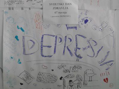 Izložba dječjih plakata na temu depresije