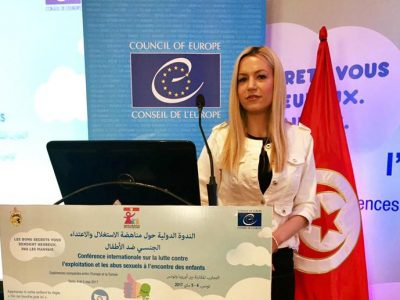 At the International Conference in Tunisia on Combating Exploitation and Abuse against Children
