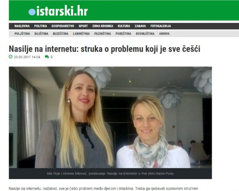 """Istarski.hr:""""Nasilje na internetu: struka o problemu koji je sve češći"""""""