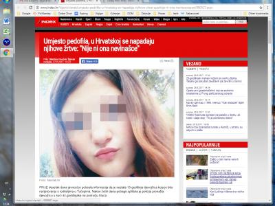 """INDEX: """"Umjesto pedofila u Hrvatskoj se napadaju njihove žrtve"""""""