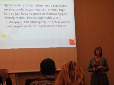 Predavanje o psihosocijalnoj pomoći djeci čiji su članovi obitelji oboljeli od kroničnih bolesti