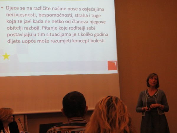 Lecture on psycho-social help for children whose family members suffer from chronic diseases