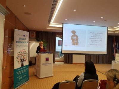 At an International Conference on Domestic Violence in Zagreb