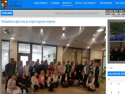O predavanju u Sarajevu na portalu Nadbijskupijskog centra za pastoral mladih Ivan Pavao II