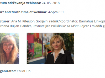"Take part in the ChildHub webinar: ""Adapting the concept of children's homes (Barnahus) to a local contex"