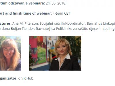 """Sudjelujte na webinaru ChildHuba: """"Prilagođavanje koncepta dječjih kuća (Barnahus) lokalnom kontekstu"""""""