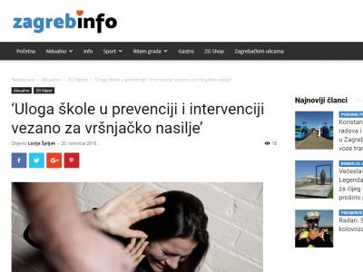 ZAGREB.info: Edukacija djelatnika Škole za modu i dizajn o vršnjačkom nasilju