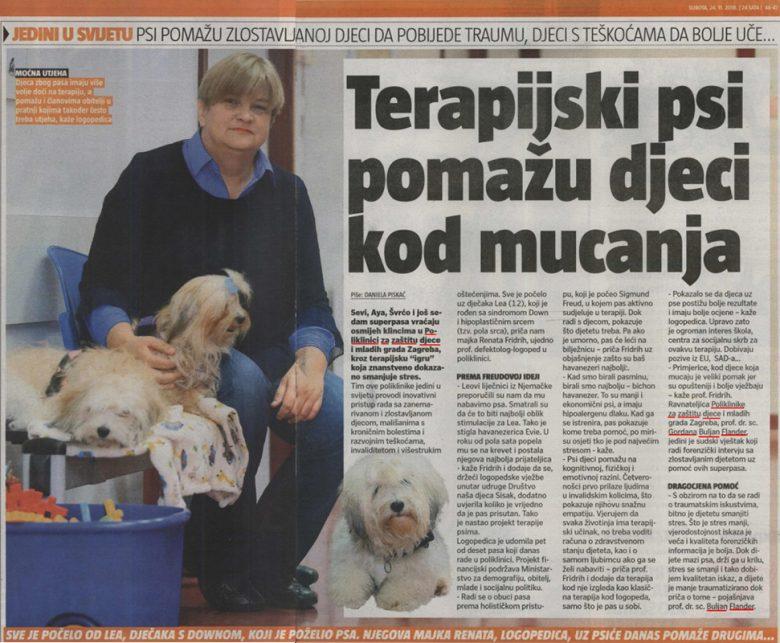 """24 sata: """"Terapijski psi pomažu djeci kod mucanja"""""""