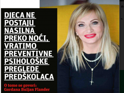 "Slobodna Dalmacija: ""Children Don't Become Violent Overnight, Let's Bring Back Preventive Psychological Examinations Of Preschoolers"""