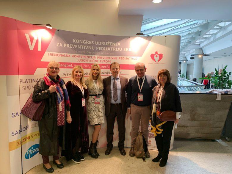 Na VI. kongresu Udruženja za preventivnu pedijatriju Srbije sa međunarodnim učešćem i Prvoj regionalnoj konferenciji preventivne pedijatrije Jugoistočne Europe u Beogradu