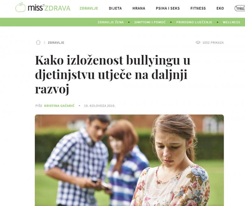 """Miss7Mama: """"Kako izloženost bullyingu u djetinjstvu utječe na daljnji razvoj"""""""