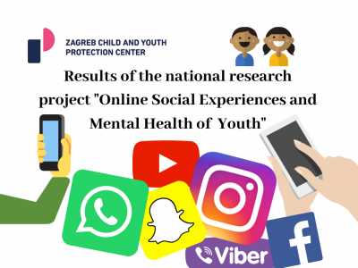"Results of the national research project ""Online social experiences and mental health of youth"""