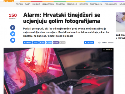 """Alarm: Croatian teens are being blackmailed with nude photos"""