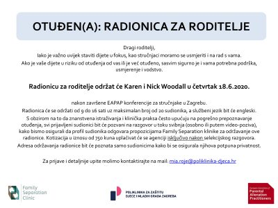 NAJAVA: Karen i Nick Woodall u Zagrebu će u lipnju održati radionicu za roditelje djece u riziku otuđenja ili već otuđene od njih
