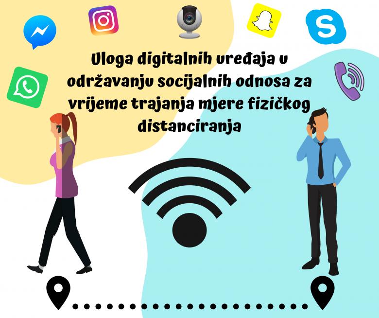 Značajna uloga digitalnih uređaja u održavanju socijalnih odnosa za vrijeme trajanja mjere fizičkog distanciranja