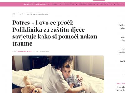 """Miss7Mama: """"Potres – I ovo će proći: Poliklinika za zaštitu djece savjetuje kako si pomoći nakon traume"""""""
