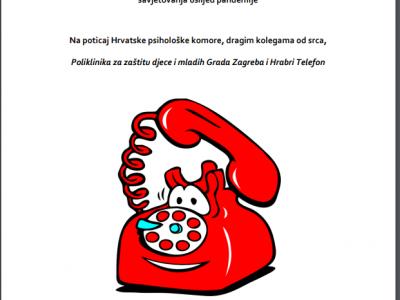 "ZA STRUČNJAKE MENTALNOG ZDRAVLJA: Video snimke 6 webinara o telefonskom i e-savjetovanju i besplatni priručnik ""Halo, pomozite!"""