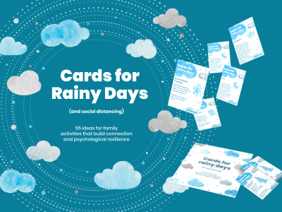 """Cards for Rainy Day"" translated into 5 languages: English, Greek, Hungarian, Macedonian and Romanian"