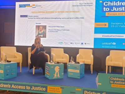 """At the UNICEF Regional Conference """"Children's Acsess to Justice"""" in Sarajevo"""