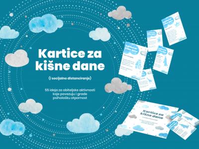 BESPLATNA BROŠURA: »Kartice za kišne dane (i socijalno distanciranje)« – novi dizajn, na hrvatskom i engleskom jeziku
