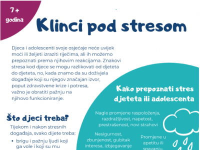 LETAK: Klinci pod stresom – stres kod djece i adolescenata