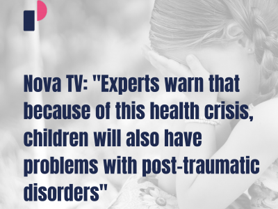 "Nova TV: ""Experts warn that because of this health crisis, children will also have problems with post-traumatic disorders"""