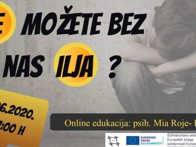 Poziv na besplatnu online edukaciju o nasilju među djecom i odnosu s djecom s problemima u ponašanju