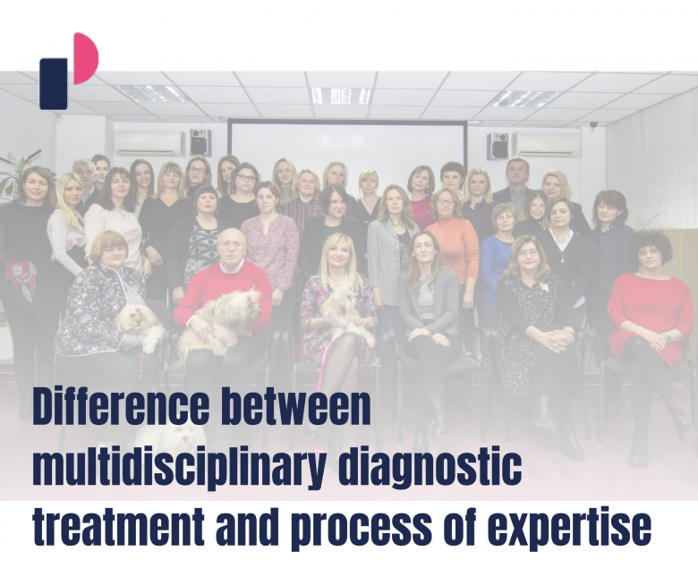 Difference between multidisciplinary diagnostic treatmant and process of expertise