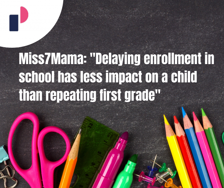 """Miss7Mama: """"Delaying enrollment in school has less impact on a child than repeating first grade"""""""