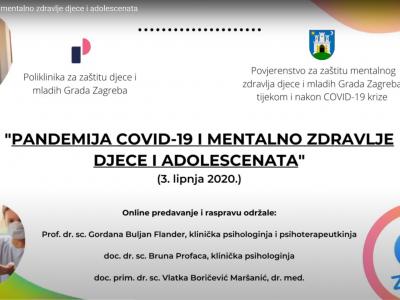 """Održan webinar za stručnjake """"Pandemija COVID-19 i mentalno zdravlje djece i adolescenata"""""""