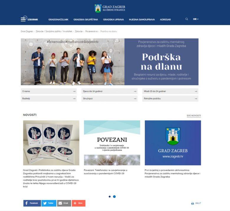 Aktivnosti Poliklinike i Povjerenstva za zaštitu mentalnog zdravlja djece i mladih Grada Zagreba u 2020. godini