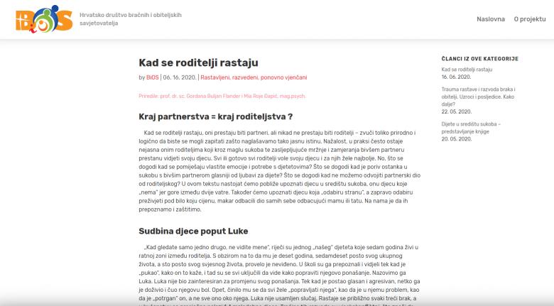 """Savjetovalište.hr: """"Kad se roditelji rastaju"""""""