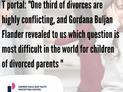 "T portal: ""One third of divorces are highly conflicting, and Gordana Buljan Flander revealed to us which question is most difficult in the world for children of divorced parents """
