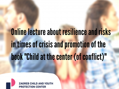 "Online lecture about resilience and risks in times of crisis and promotion of the book ""Child at the center (of conflict)"""