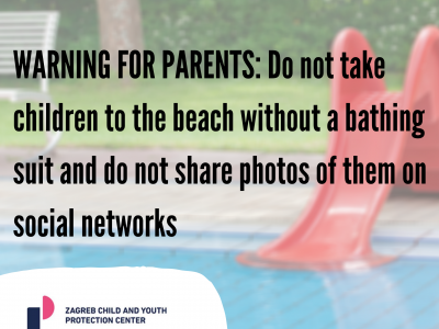 WARNING FOR PARENTS: Do not take children to the beach without a bathing suit and do not share photos of them on social networks
