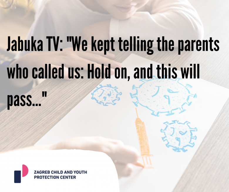 """Jabuka TV: """"We kept telling the parents who called us: Hold on, and this will pass…"""""""