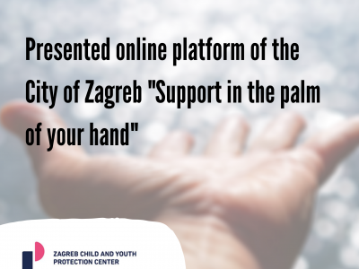 "Presented online platform of the City of Zagreb ""Support in the palm of your hand"""