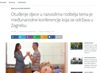"""T portal: """"Otuđenje djece u razvodima roditelja tema je međunarodne konferencije koja se održava u Zagrebu"""""""