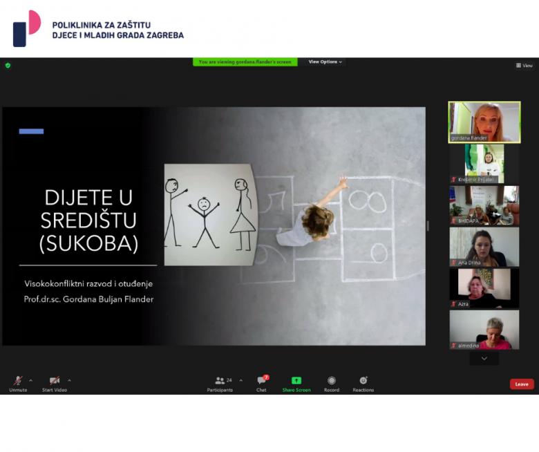 Predavanje o visokokonfliktnim razvodima i otuđenju u sklopu edukacije za stručnjake Bosne i Hercegovine