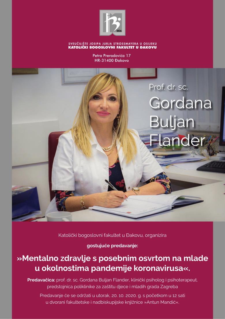Predavanje o mentalnom zdravlju s posebnim osvrtom na mlade u okolnostima pandemije koronavirusa na KBF u Đakovu