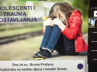 O traumi u djetinjstvu i adolescentnoj dobi i zdravstvenim ishodima tijekom života na III. Hrvatskom kongresu o prevenciji i ranom otkrivanju kroničnih bolesti