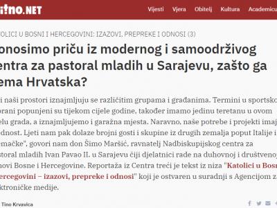 Bitno.net: O programu prevencije zlostavljanja maloljetnika u Nadbiskupijskom centru za pastoral mladih u Sarajevu