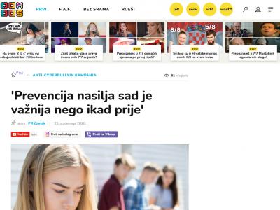 "Joomboos: ""'Anti-cyberbullying kampanja: Prevencija nasilja sad je važnija nego ikad prije'"""