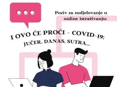"""POZIV: Sudjelujte u istraživanju """"I ovo će proći – COVID-19: jučer, danas, sutra…"""" – ispunite online upitnik"""