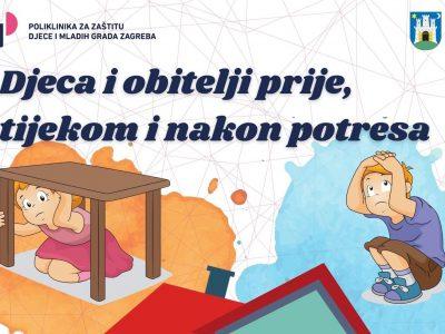"""BESPLATNA PUBLIKACIJA: """"Djeca i obitelji prije, tijekom i nakon potresa"""""""